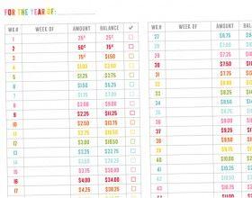 Printables, 52 week savings challenge and 52 week savings ...