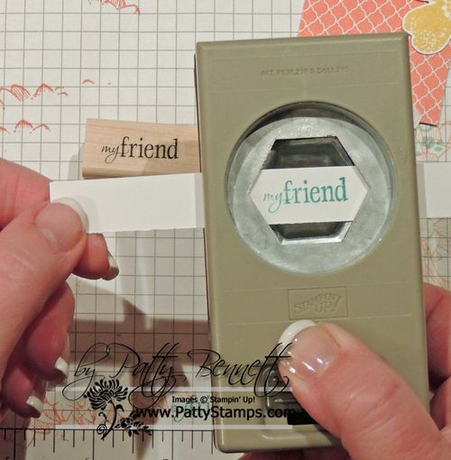 Another cool idea using the new Stampin' Up hexagon punch.