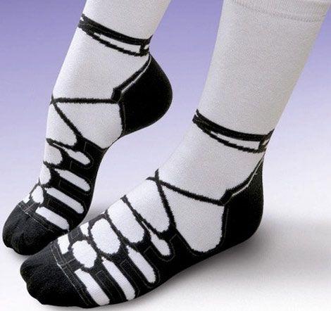 I want these! Irish dance shoe patterned socks!