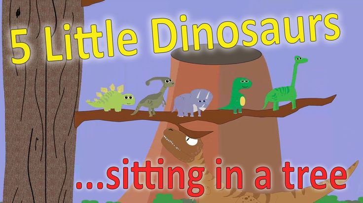 5 Little Dinosaurs Sitting in a Tree   Kids Songs   early childhood educ...