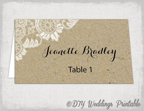 Best 25 rustic place cards ideas on pinterest wedding for Make your own wedding place cards
