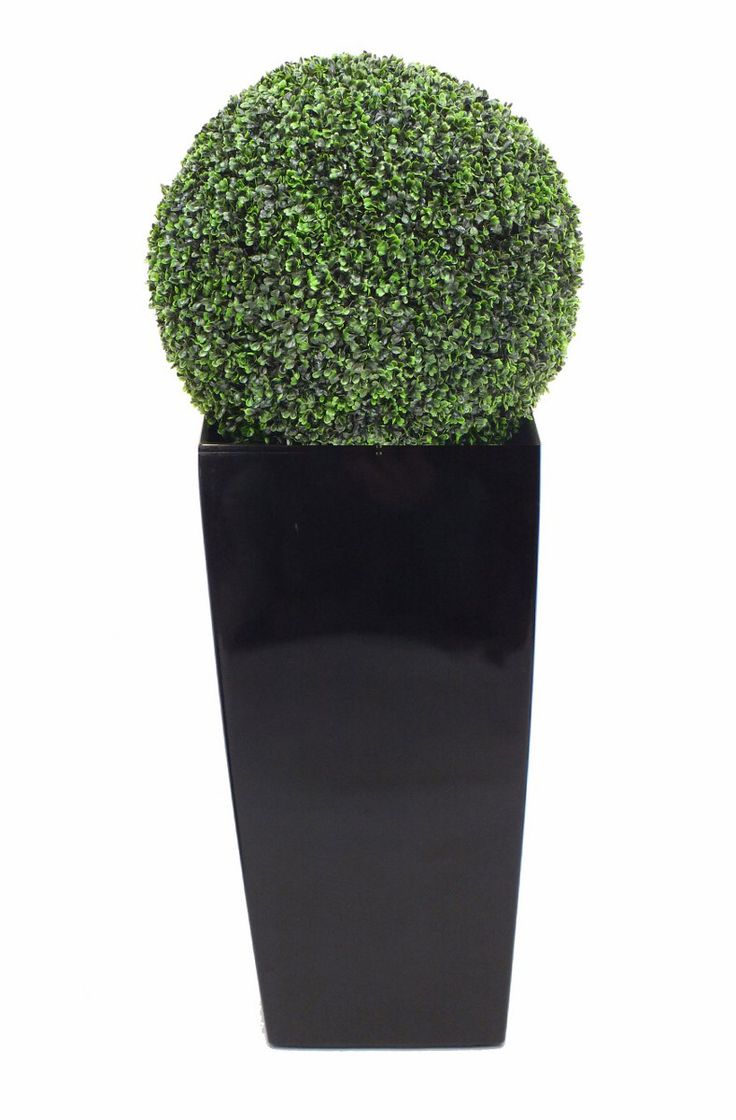 Potted Artificial Boxwood Ball. Select your own planter