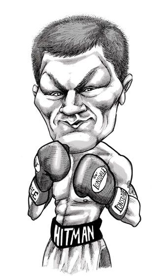 Ricky Hatton - Boxer - caricature