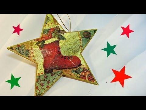 Como hacer estrellas de Navidad 3D. Christmas star. - YouTube
