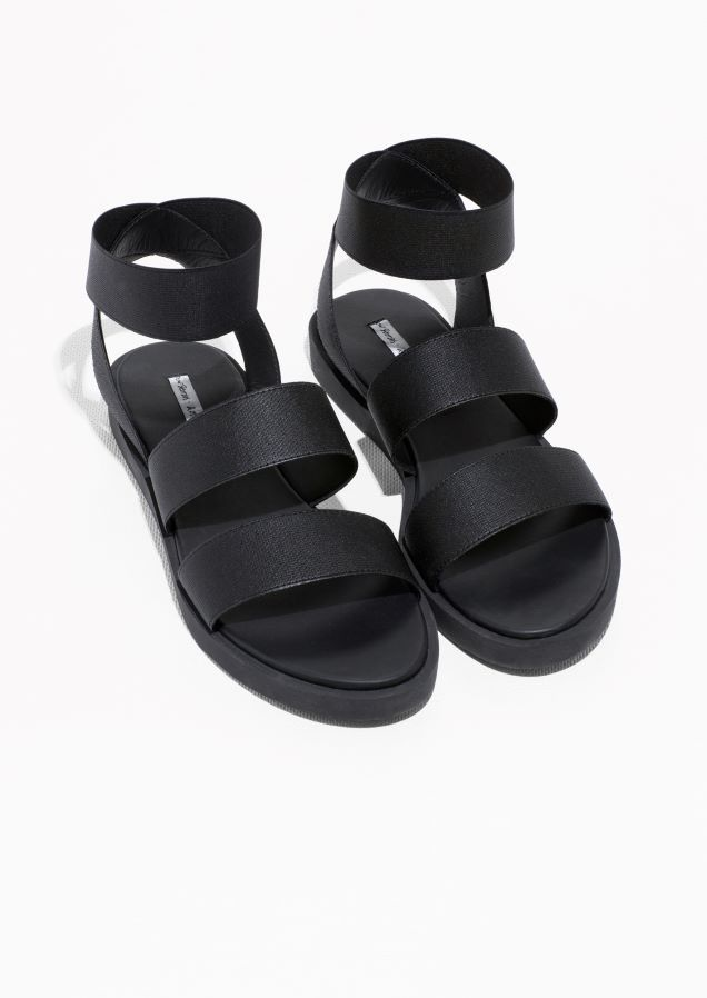 2c277f7a9ccc   Other Stories image 2 of Elastic Strap Sandal in Black