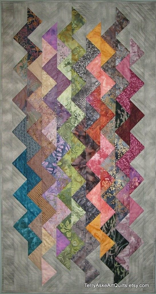 "Art Quilt Wall Hanging - ""ZigZag"" by Terry Aske"