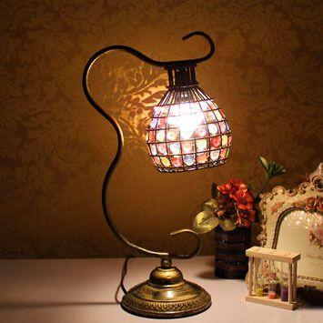 Europea Pastoral Retro Lámpara Lámpara de Noche Dormitorio Casa Lampara Tiffany Lámpara Creativa Decoración Americana Decorativo Retro