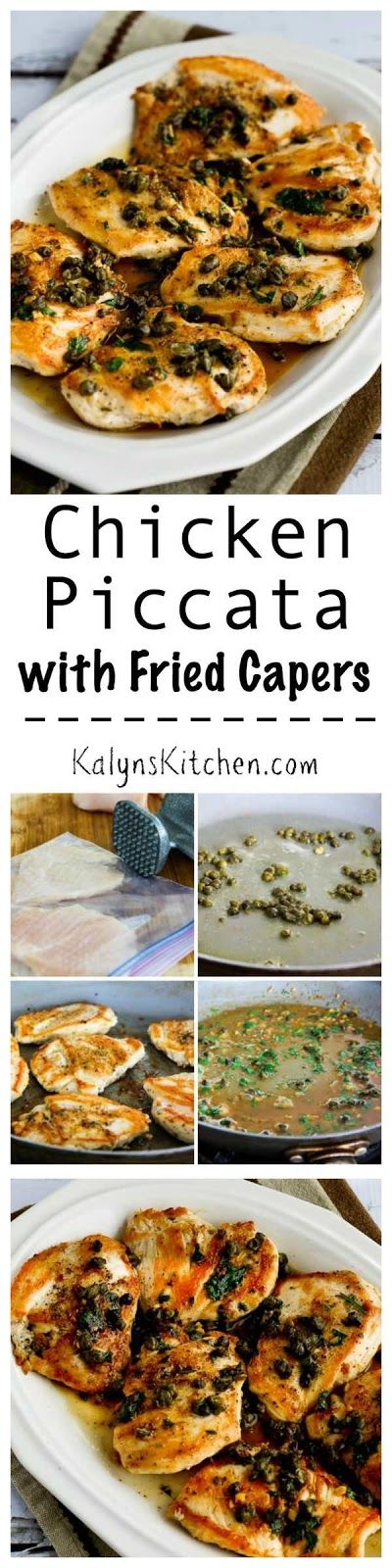 Chicken Piccata with Fried Capers is a low-carb and gluten-free ...