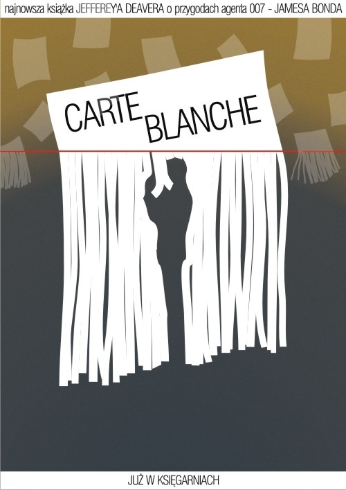Carte Blanche - plakat książki (sic!) . Wiwat James Bond
