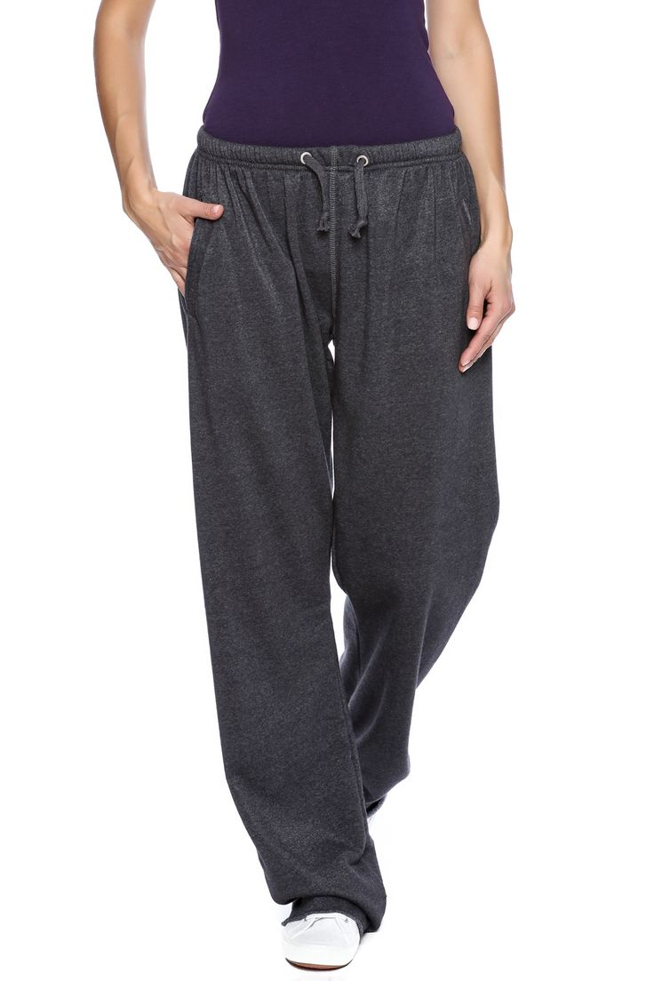 Oversized boyfriend fit sweatpants with front pockets a drawstring waist and raw cut bottoms.  Boyfriend Sweatpant by Butter Super Soft. Clothing - Bottoms - Pants & Leggings - Joggers Long Island