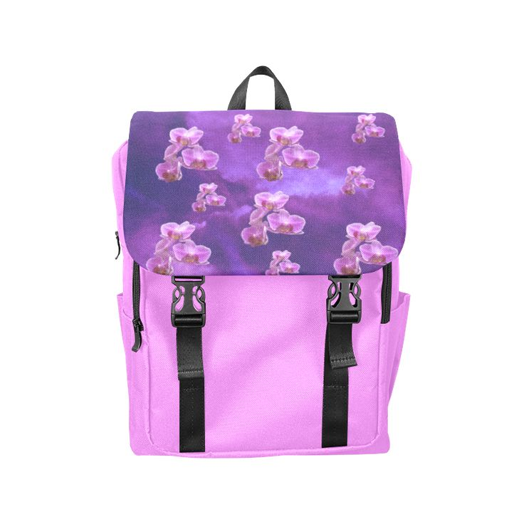 Purple Orchids Casual Shoulders Backpack (Model 1623)