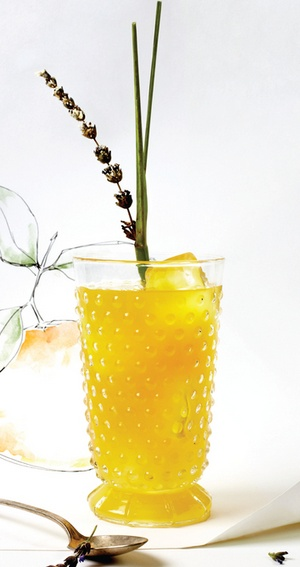Sweet Agave & Orange Lemongrass Cooler with Candied Lavender #sweetpaul #cocktail http://www.sweetpaulmag-digital.com/sweetpaulmag/spring2012#pg80  Recipes & Food Styling by Diana Perrin of Casa de Perrin, Prop Styling & Artwork by Alicia Buszczak and Photography by Bricco.