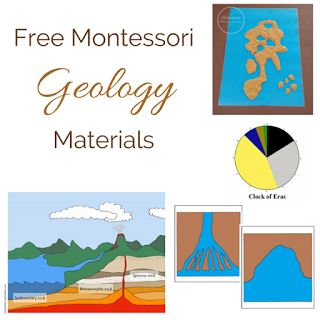 Elementary Observations: Free Montessori Geology Materials