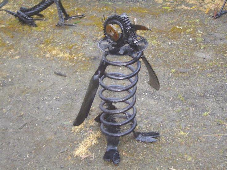 Metal Garden Sculptures | METALBOLICALS ~ Metal Garden Art Statues & Sculptures/Birds/Penny