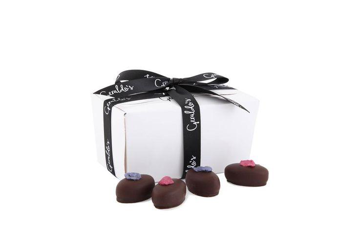 Mixed Ballotin Gift Box of Rose & Violet Creams