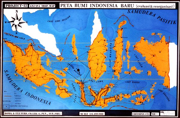 Peta Bumi Indonesia Baru - Priyanto Sunarto - 1977