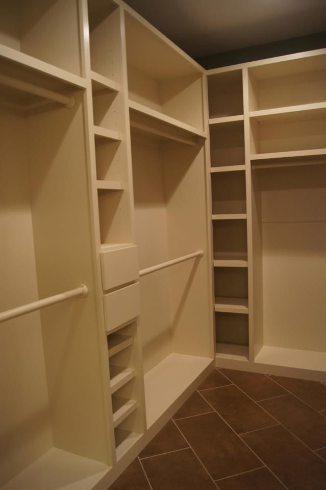 Custom Closet with lots of storage.