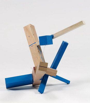 "wood and casein, 17"" x 17"" x 19"" (43.2 cm x 43.2 cm x 48.3 cm), © 2004 Joel Shapiro / Artists Rights Society (ARS), New York"