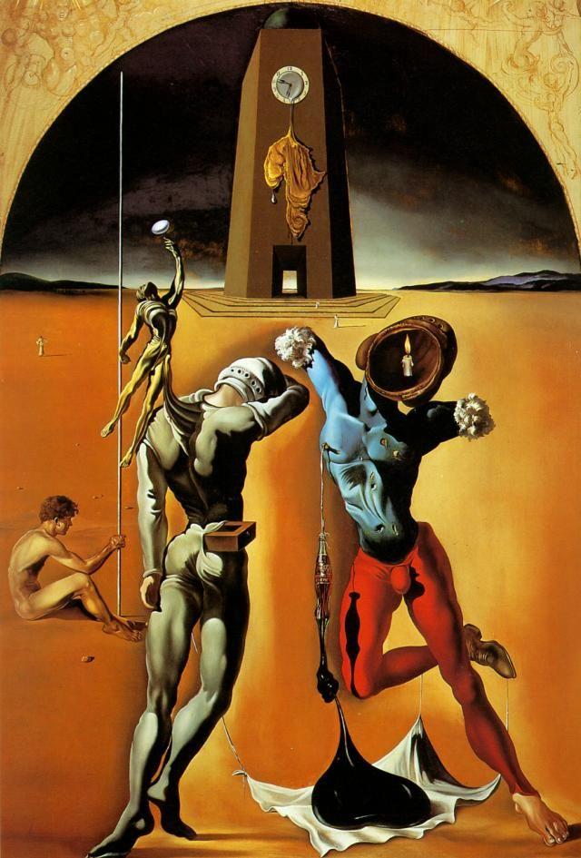 Salvador Dali >> La Poésie d Amérique (inachevé)  |  (huile, reproduction, copie, tableau, oeuvre, peinture).