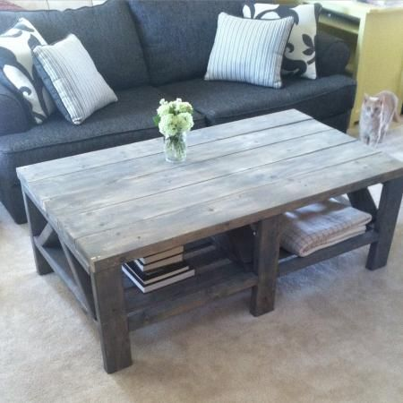 Weathered Gray Triple Truss | Do It Yourself Home Projects From Ana White.  Home ProjectsFurniture ProjectsPallet ProjectsGray StainGray Wood ...