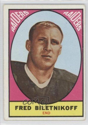 Fred Biletnikoff COMC REVIEWED Good to VG-EX Oakland Raiders (Football Card) 1967 Topps #106 by Topps. $12.00. 1967 Topps #106 - Fred Biletnikoff COMC REVIEWED Good to VG-EX