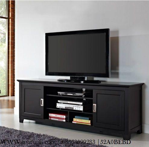 jual bufet tv hitam model minimalis dengan type pintu geser atau sliding, akan lebih praktis, simpel, lebih mudah ketika menggunakannya.
