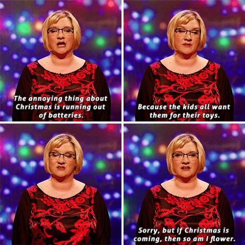 When she pointed out the most annoying thing about Christmas. | 23 Times Sarah Millican Proved She's The Funniest Woman In Britain