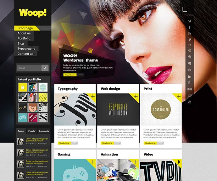 Here are 95 Beautiful Photoshop Website Templates that will help you to get started or inspired for a beautiful website. Have a look below and find creative photoshop website templates.