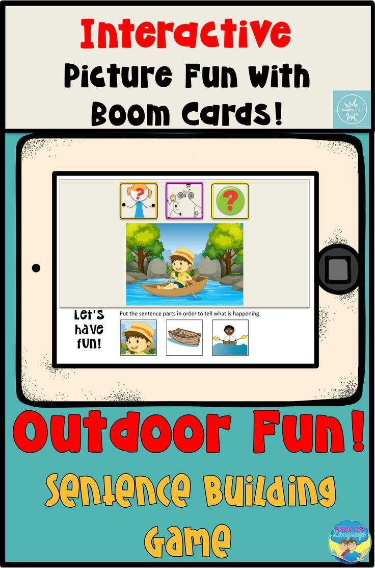 Boom cards speech therapy teletherapy sentence