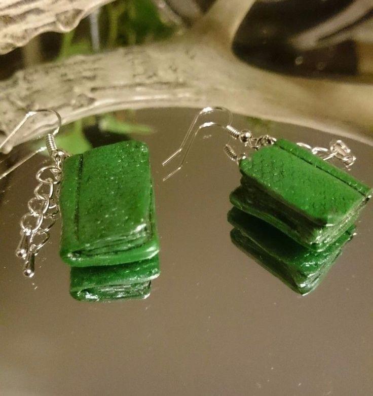 Ohrringe aus Modelliermasse Fimo- Bücher, Handmade