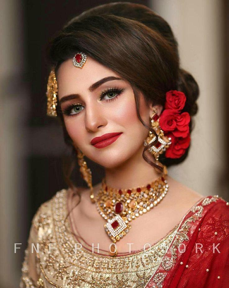 Walima makeup | Pakistani bridal hairstyles, Indian bridal