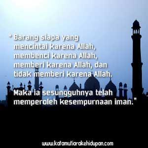 Kata Mutiara Islam Kesempurnaan Iman