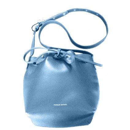 MANSUR GAVRIEL mini bucket bag in royal blue