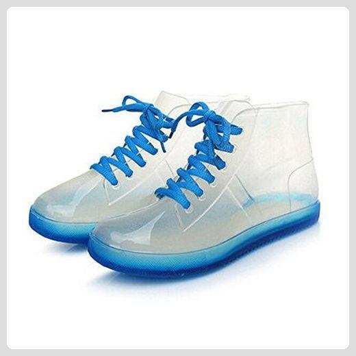 Meijunter Sommer Damen Transparent Süßigkeit-Farben Rainboots Regen Stiefel Ladies Damen Gummi Regen Schuhe Boots Shoes Wasser Schuhe - Stiefel für frauen (*Partner-Link)