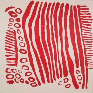 Wintjiya Napaltjarri, 'Untitled,' 2010, acrylic on belgian linen,122 x 122 cm. Gabrielle Pizzi Gallery, Melbourne.