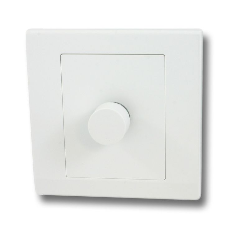 Retrotouch Simplicity White Rotary LED Dimmer Light Switch (1 Gang)
