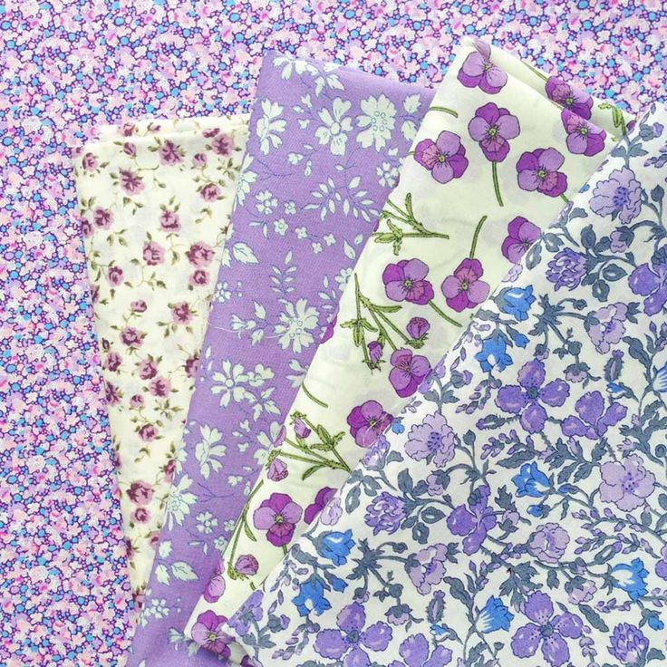 Pretty violets Liberty fabric fat quarter selection pack
