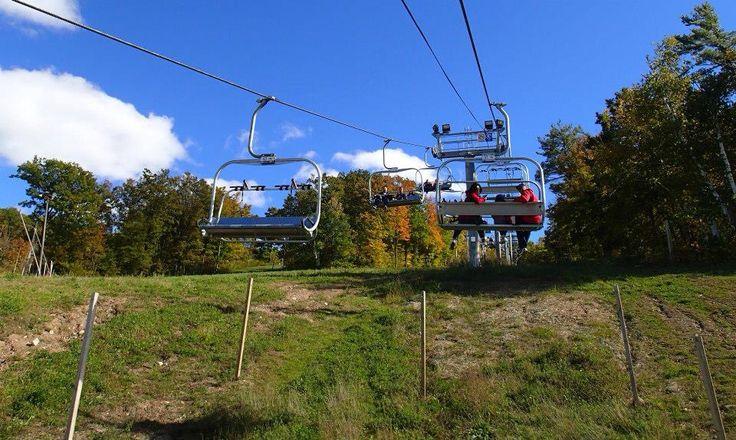 Chair lift views of the gorgeous autumn colors @ Kelso conservation! #BurlOn
