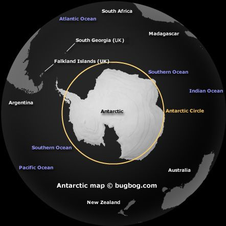 The Antarctic Circle is the region in the Southern Hemisphere surrounding the South Pole.The  Antarctic Circle is the coldest and driest place on earth and is owned by no one but claimed by many.