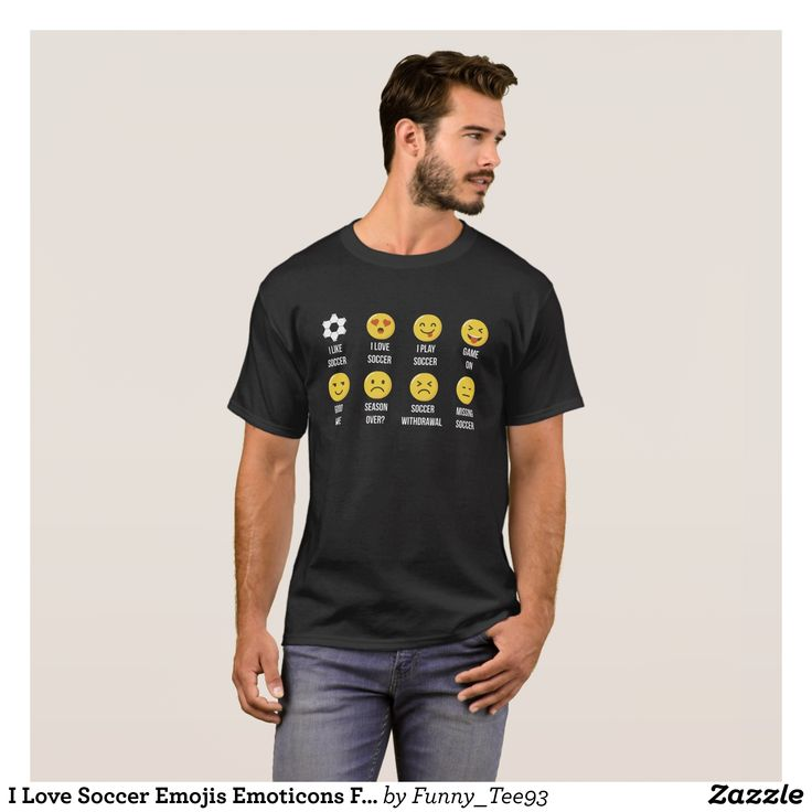 I Love Soccer Emojis Emoticons Funny Graphic T-Shi T-Shirt - Classic Relaxed T-Shirts By Talented Fashion & Graphic Designers - #shirts #tshirts #mensfashion #apparel #shopping #bargain #sale #outfit #stylish #cool #graphicdesign #trendy #fashion #design #fashiondesign #designer #fashiondesigner #style