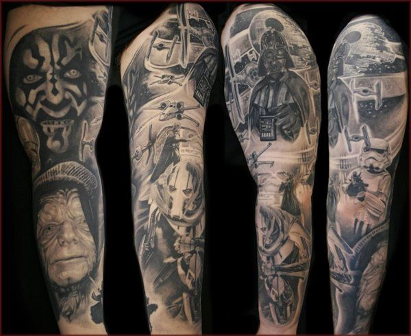Top 12 Most Amazing Star Wars Tattoos - https://twitter.com/mysicktattoos/status/571332893546385408
