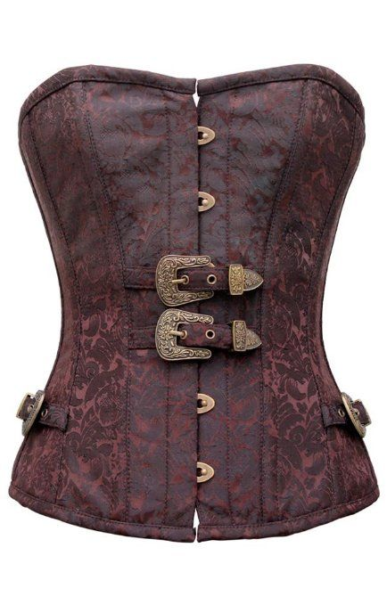 Amazon.com: Corset Super Store Women's Steampunk Steel Boned Corset With Buckle Detail: Clothing
