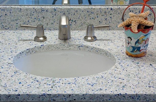 17 Best Images About Bathroom Countertops On Pinterest Glow Gemstones And Fiber