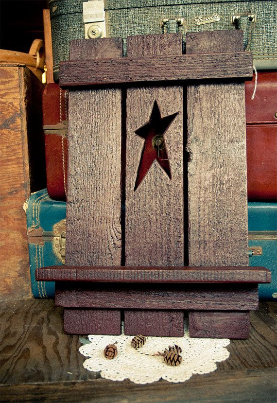 Vintage Country Star Wall Hanging Shelf by TheUrbanBarn on Etsy
