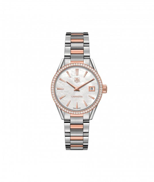 TAG Heuer Carrera 100 M - 32 mm Rose Gold & Diamonds WAR1353.BD0779 TAG Heuer watch price