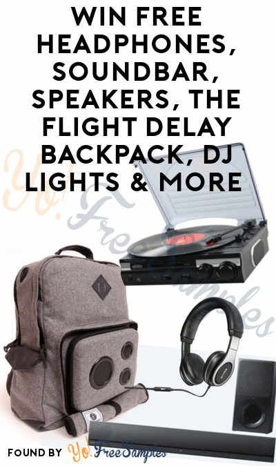 Enter Daily: Win FREE Headphones, Soundbar, Speakers, The Flight Delay Backpack, DJ Lights & More From Camel's Open Sound Instant Win Sweepstakes