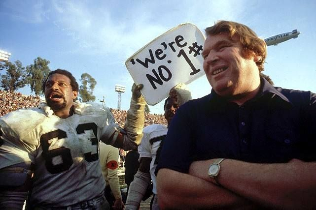 DID YOU KNOW? John Madden boasts one of the most impressive win/loss ratios ever as a head coach. From 1969 through 1978, Madden's Raiders went 103-32, and never had a losing season!