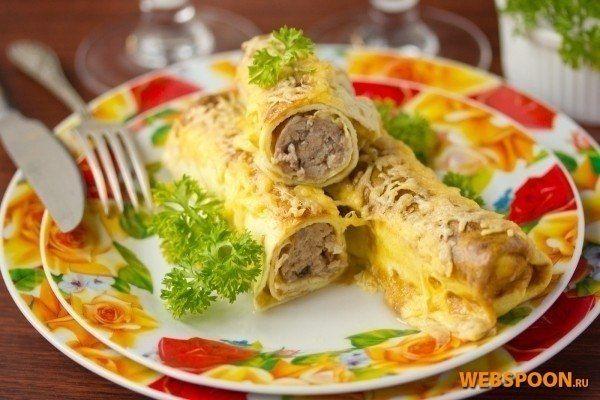 Яичные рулетики с мясной начинкой - отличный завтрак! | Кулинарные Рецепты