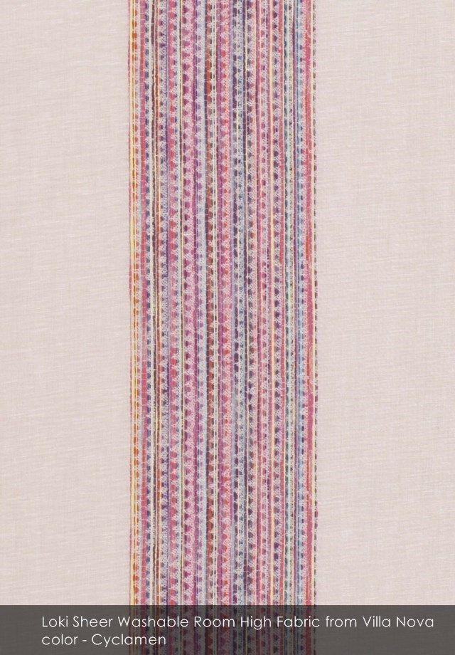 Loki Sheer Washable Room High fabric from Villa Nova in Cyclamen