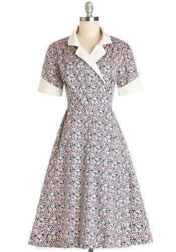 1940s Style Dresses and Clothing - Pretty Impromptu Dress from ModCloth $189.99  #1940sfashion #1940sdress